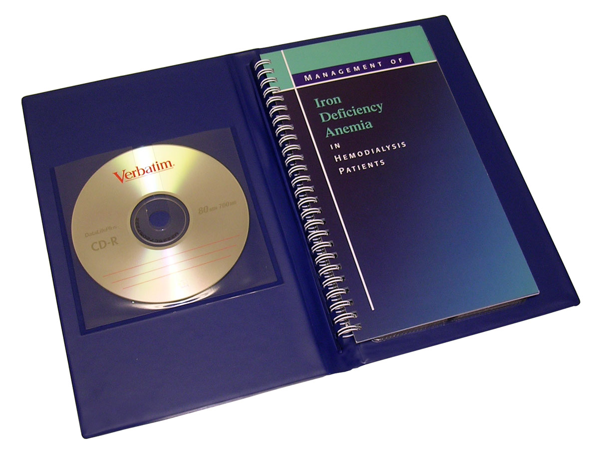 Vinyl Portfolio with CD Pocket and Wire-O Book