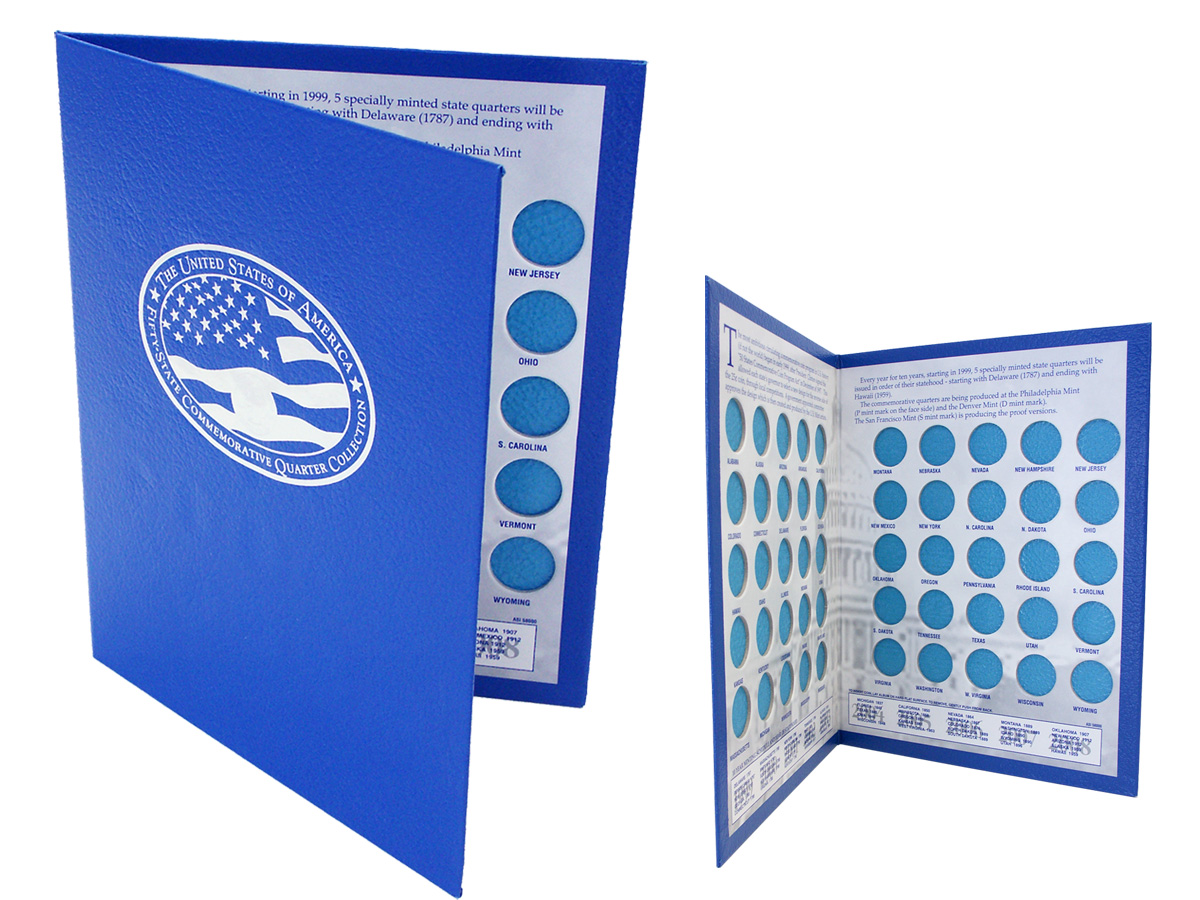Foil Stamped Commemorative Coin Album