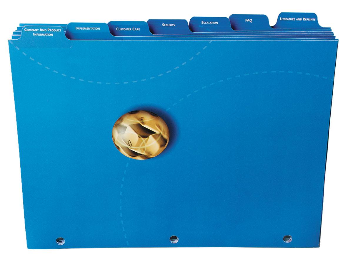 Custom Mylar Reinforced Tabs