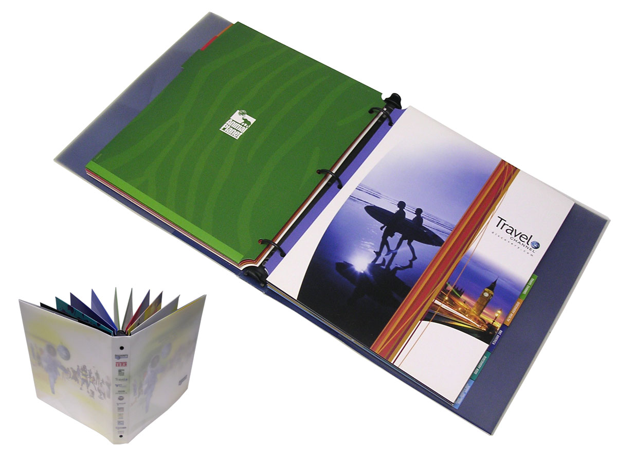 Paperboard Binder with Frosted Poly Cover and Die-Cut Tabs