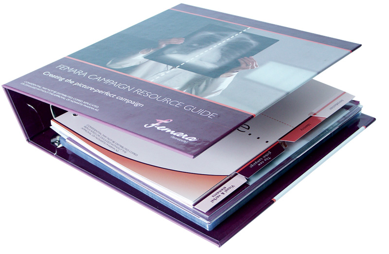 Full Color Turned Edge Binder with Custom Mylar Tabs