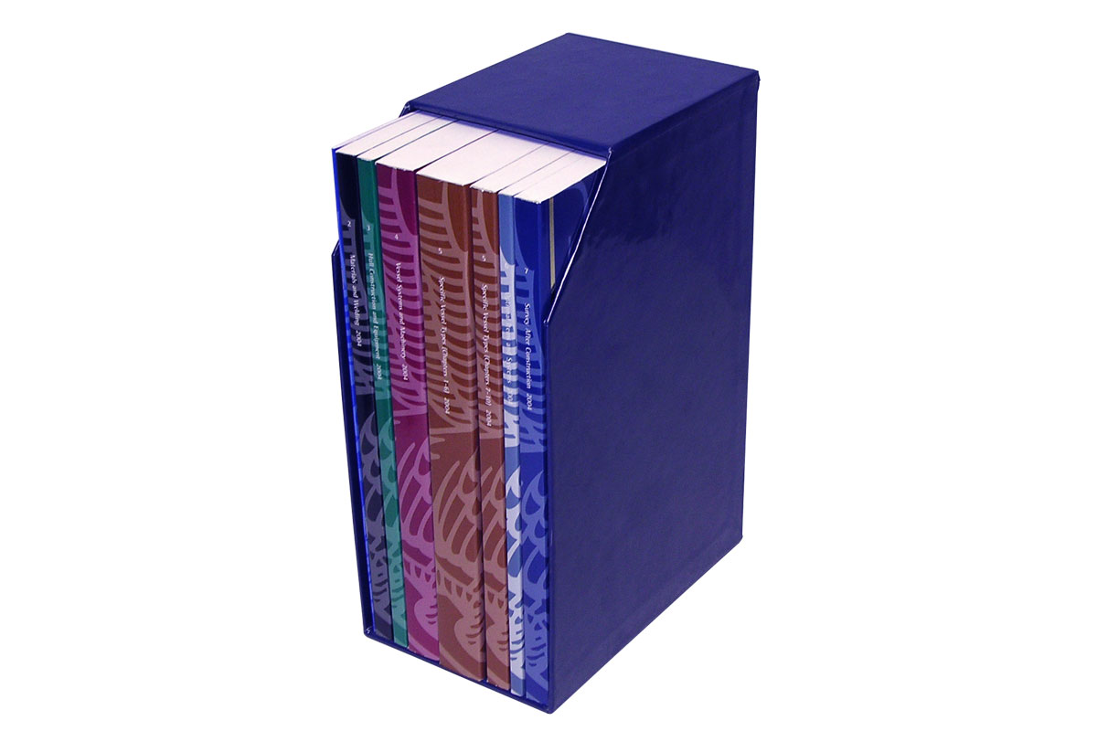 Turned Edge Foil Stamped Slipcase with Perfect Bound Books